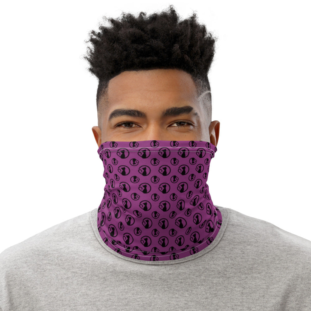 Neck Gaiter with Bibi Logos on Purple