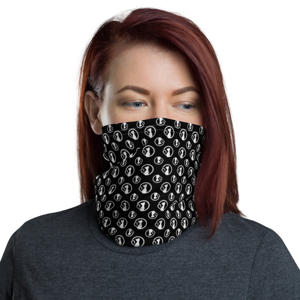 Neck Gaiter with Black and White Bibi Logos