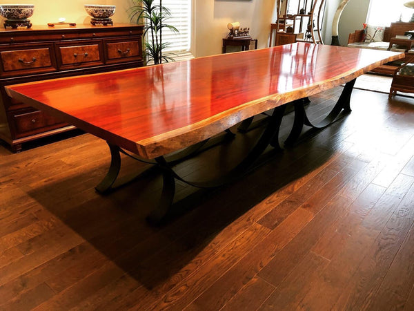 Dining Table - Live Edge Padauk Dining Table