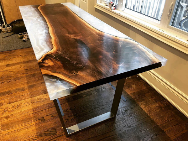 Dining Table - Walnut Epoxy Table