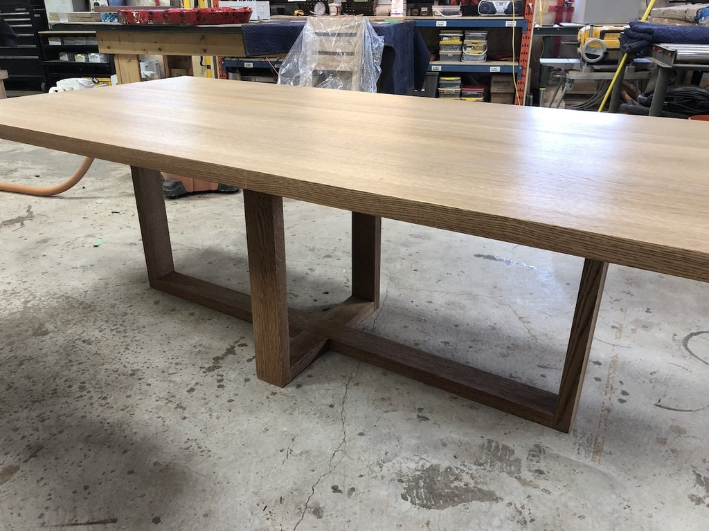 Dining Table - Ash Dining Table With Plus Shape Base