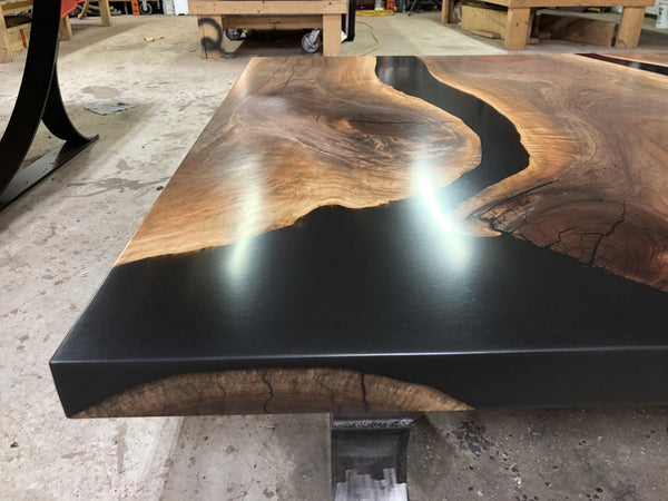 Black Epoxy River Dining or Conference Table 2