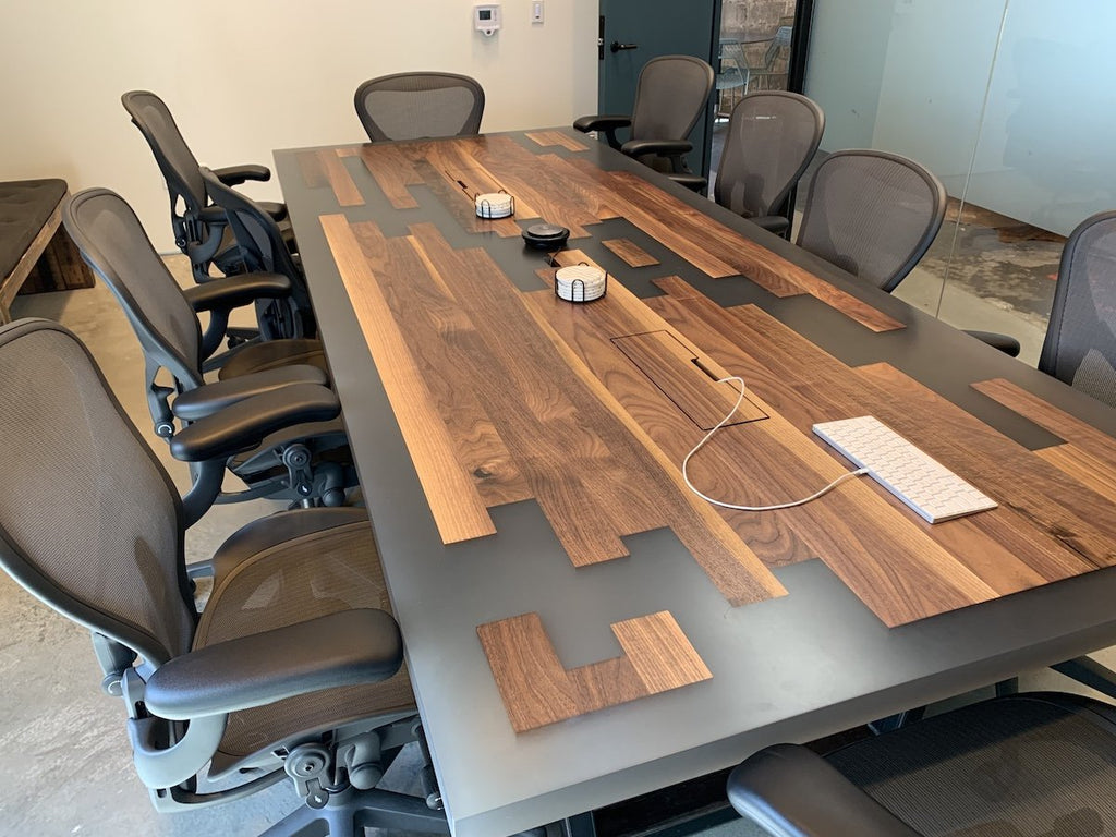 Conference Table - Epoxy Piano Key Conference Table