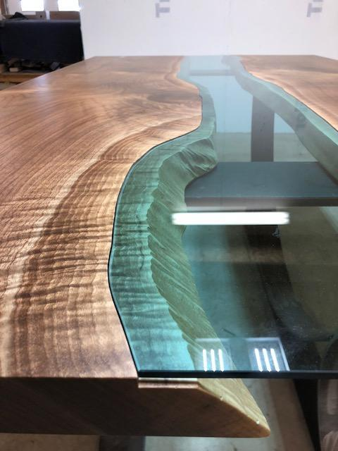 Conference Table - Walnut Glass River Conference Table