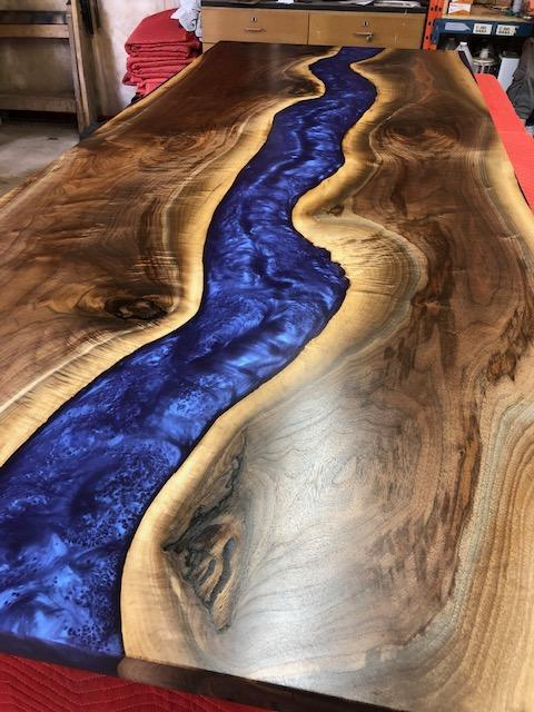 Conference Table - Purple Metallic River Epoxy Conference Table