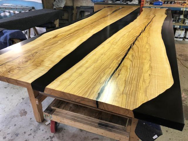 Dining Table - Black Epoxy River Table