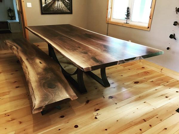 Dining Table - Walnut Live Edge Dining Table