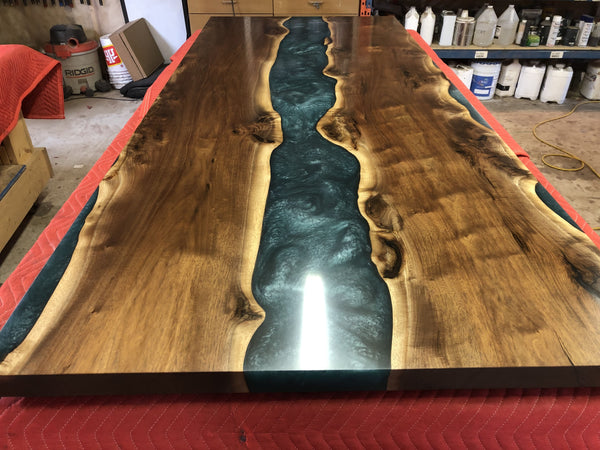 Walnut Turquoise Epoxy River Table