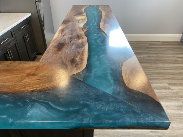Epoxy Kitchen Counter Top Right Side