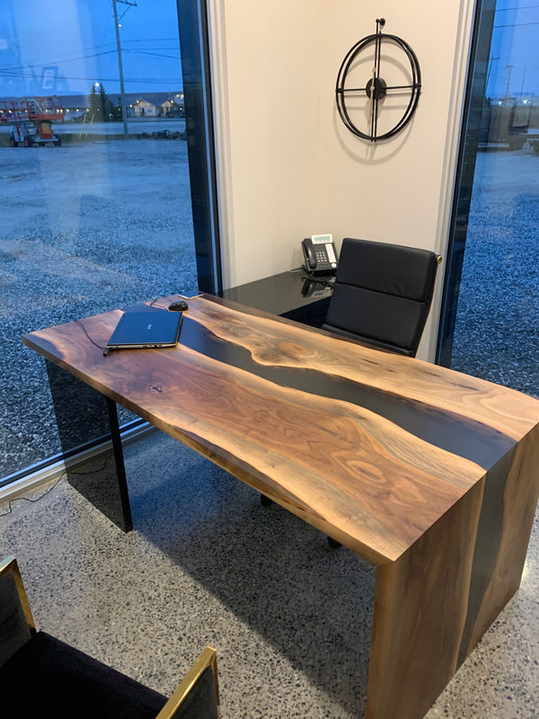 Epoxy River Desk Front