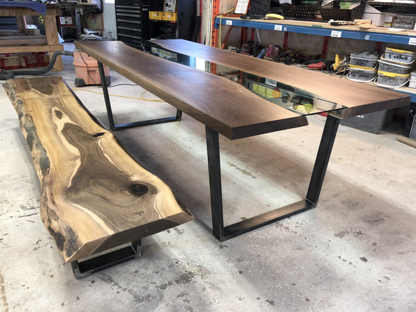 Dining Table - Walnut Glass River Dining Table