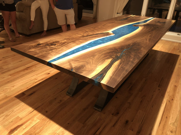 Dining Table - Epoxy River Dining Table