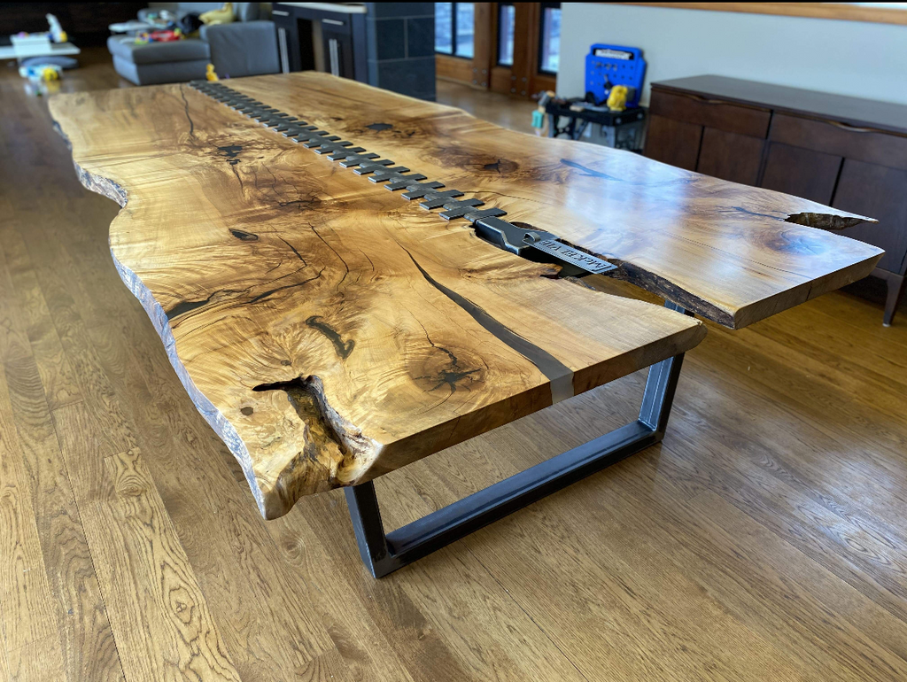 Zipper Live Edge Dining Table