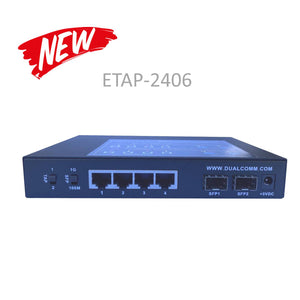 Front view of ETAP-2406 Dual-Speed SFP Ethernet Network Tap