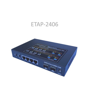 Side view of ETAP-2406 Dual-Speed 1M/1G SFP Ethernet Network Tap
