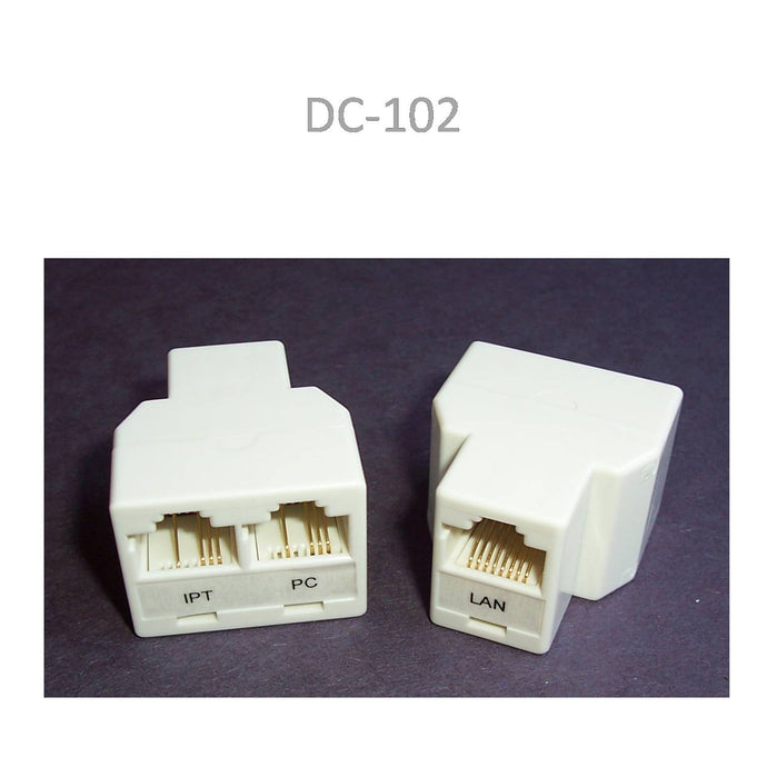 PoE RJ45 Splitter Kit for Ethernet Cable Sharing