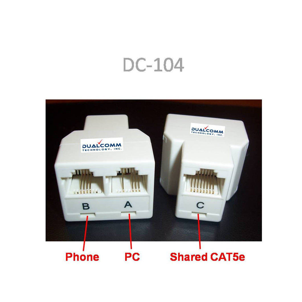 RJ45/RJ11 Splitter Cable Sharing Kit for Ethernet and Phone Lines