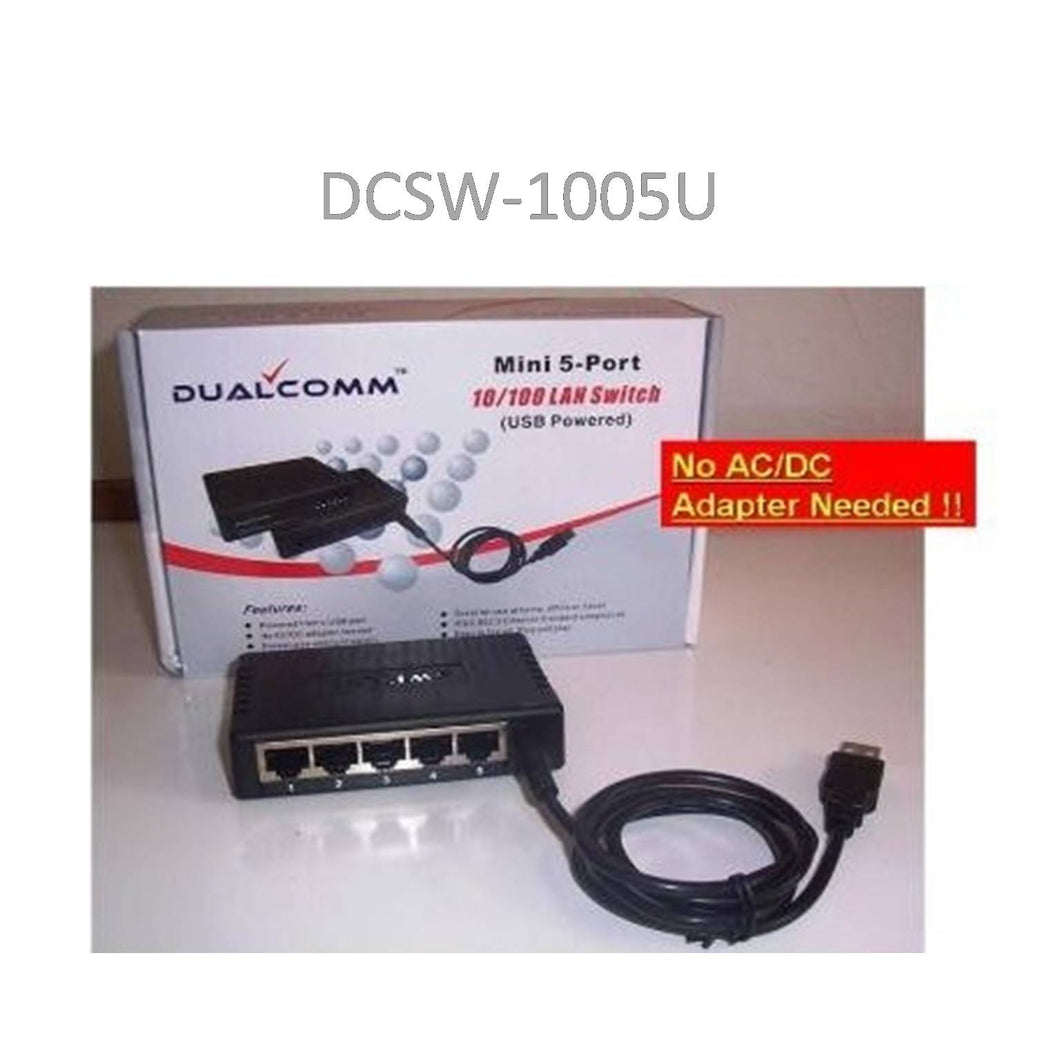 USB Powered 5-Port 10/100Base-T Ethernet Switch