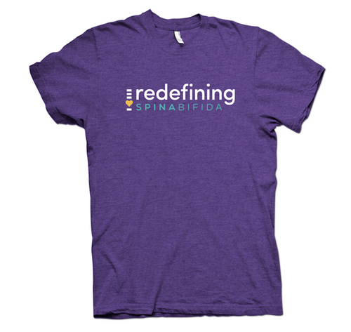 Redefining Spina Bifida Purple Rush T-Shirt - YOUTH