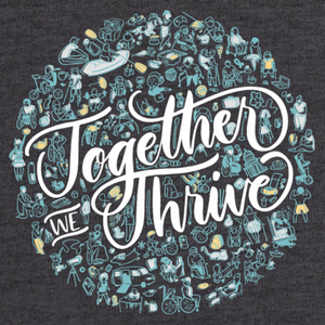 Together We Thrive Charcoal Gray T-Shirt