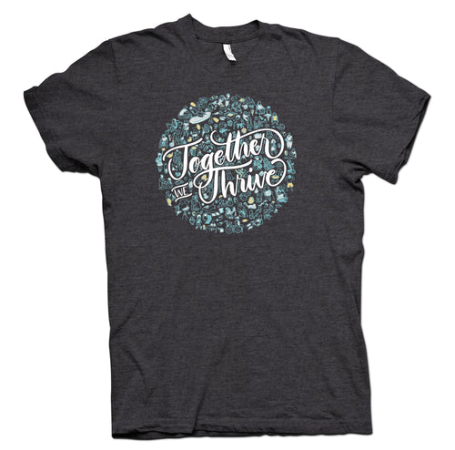 Together We Thrive Charcoal Gray T-Shirt - YOUTH