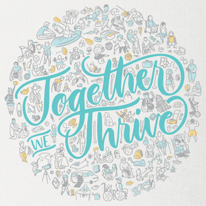 Together We Thrive White - ONESIE