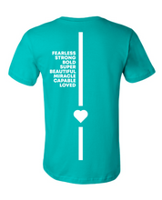 Load image into Gallery viewer, World Spina Bifida Day Teal T-Shirt - YOUTH