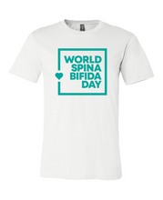 Load image into Gallery viewer, World Spina Bifida Day White T-Shirt