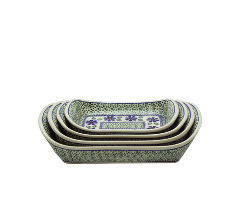 Set of serving dishes Green Meadow