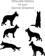 German Shepherd Stemless Wine Glass-Customize with Dog's Name-6 Silhouettes to Choose From