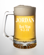 Personalized Groomsmen Gifts, Best Man Gift, or Grooms Beer Mug, choose your font