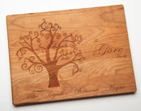 Engraved Family Tree Cutting Board, 12'x9""