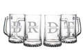 Large 25 oz. Personalized Beer Mug with Initial and Name-Set of 4
