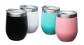 12oz Stainless Steel Tumblers with Lid-Vacuum Insulated-Matte Powder Coated Finish-Choose your Color (White, Black, Tea,l Pink)