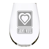 Military Wife, 17oz. Lead Free Crystal stemless wine glass