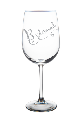 Bridesmaid wine glass, 19 oz.