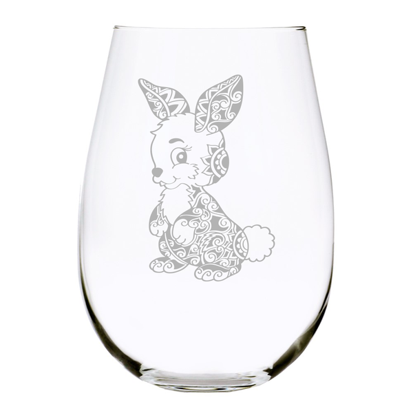 Bunny stemless wine glass, 17 oz.