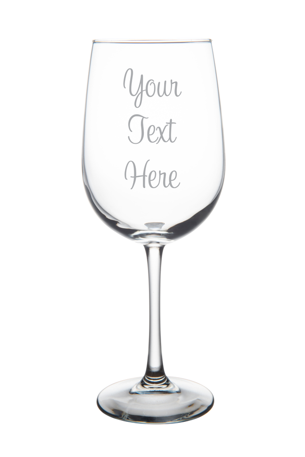 Custom Etched 19 oz Wine Glass, you choose your text and font