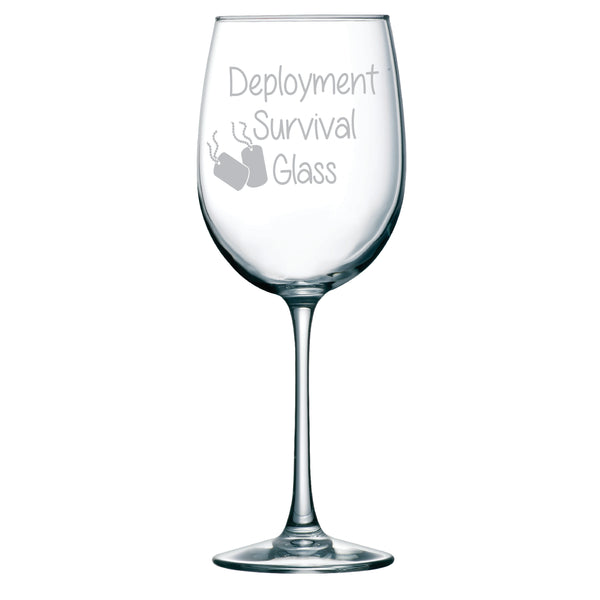 Deployment Survival Wine Glass