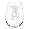 Dragon with name 17 oz. stemless wine glass…