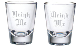 Drink Me Shot Glass Set, 2 oz.