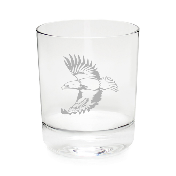 Eagle 11 oz. whiskey rocks glass, permanently etched