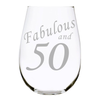 Fabulous and 50 stemless wine glass, 17 oz.  Lead Free Crystal