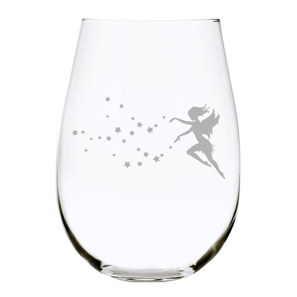 Fairy 17 oz. stemless wine glass, Lead Free Crystal
