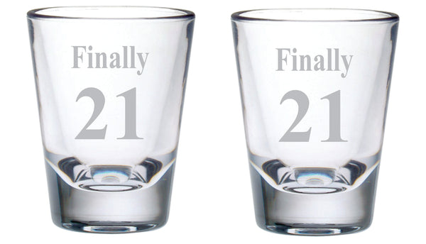 Finally 21 Shot Glass Set, 2 oz.