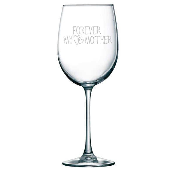 Forever My Mother 19 oz. etched wine glass