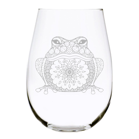 Frog stemless wine glass, 17 oz. Lead Free Crystal