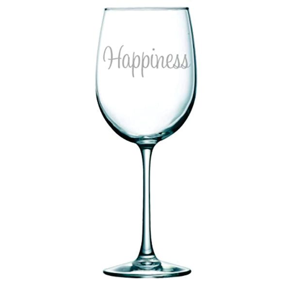 Happiness Wine Glass