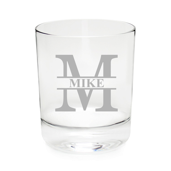 Personalized initial with name Whiskey - Rocks glass, 11 oz. Groomsman gift-Wedding party gift