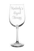 Personalized Liquid Therapy 19 oz. wine glass
